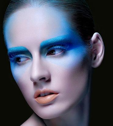 欧式舞台妆造型妆紫色图片