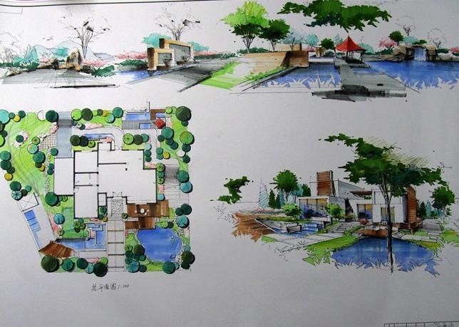 南昌手绘培训 别墅景观设计soxsok